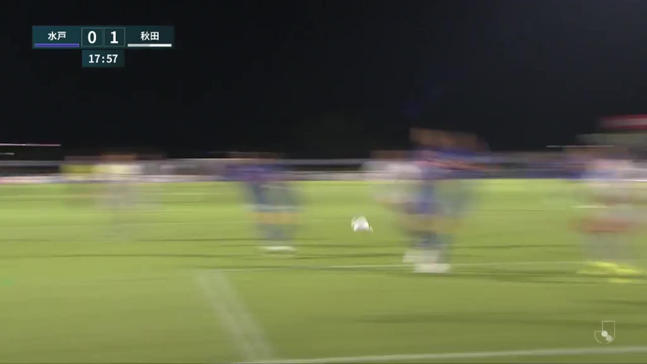 明治安田生命J2リーグ【第29節】水戸vs秋田 ダイジェスト