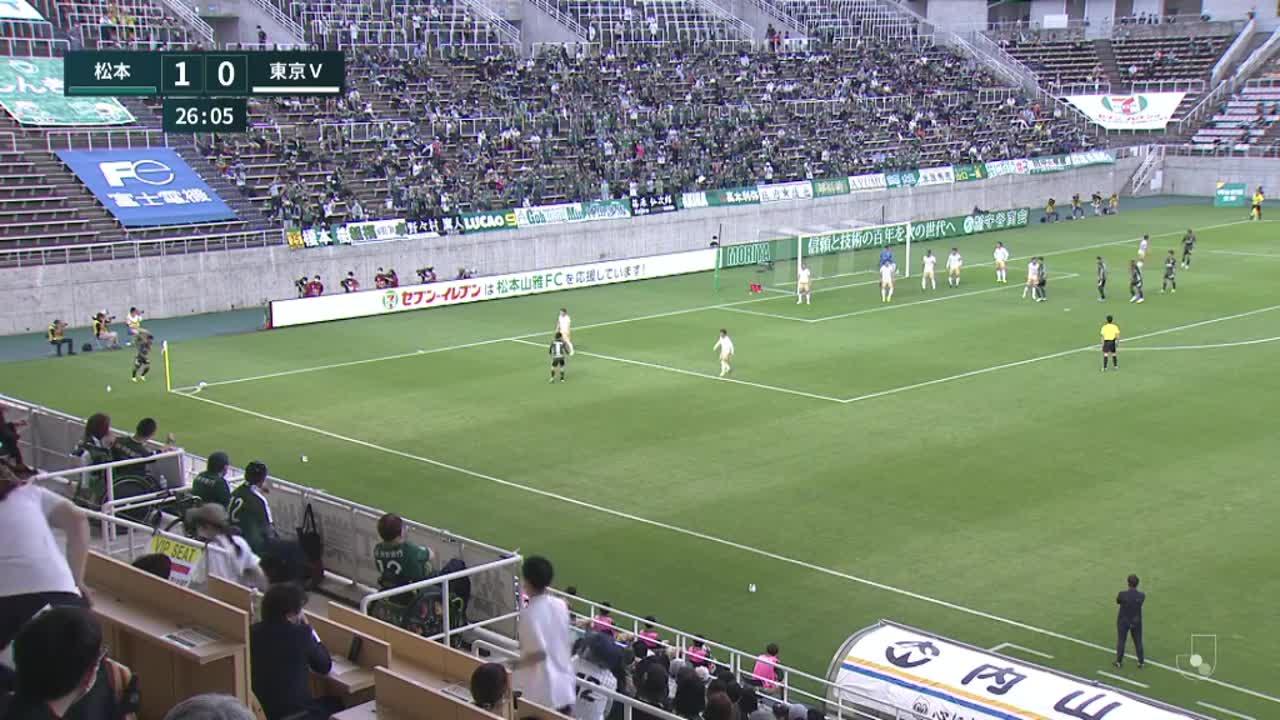 明治安田生命J2リーグ【第21節】松本vs東京V ダイジェスト