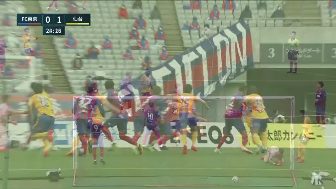 明治安田生命J1リーグ【第6節】FC東京vs仙台 ダイジェスト